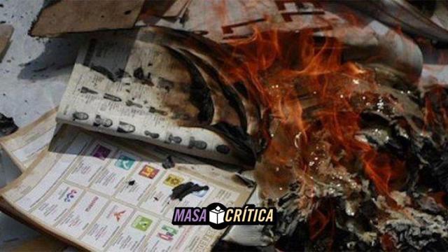Roban y queman 8 mil boletas en Oaxaca