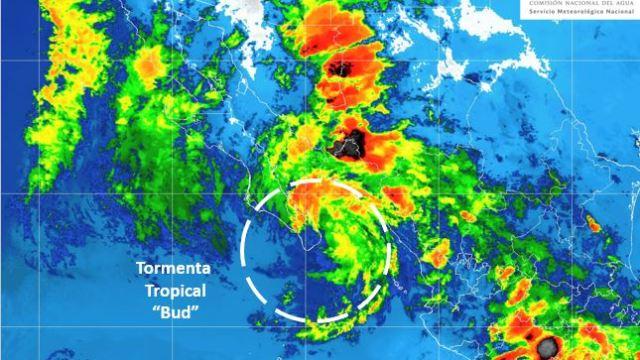 Bud tocará hoy BCS: se activó alerta roja por lluvias