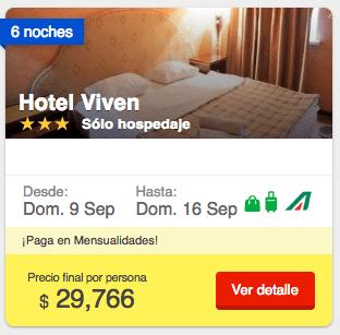 Costos de alojamiento para una semana en Rusia