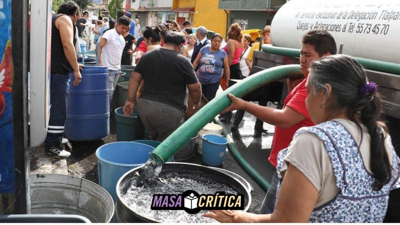 Vecinos de Iztapalapa denuncian que para agua piden INE