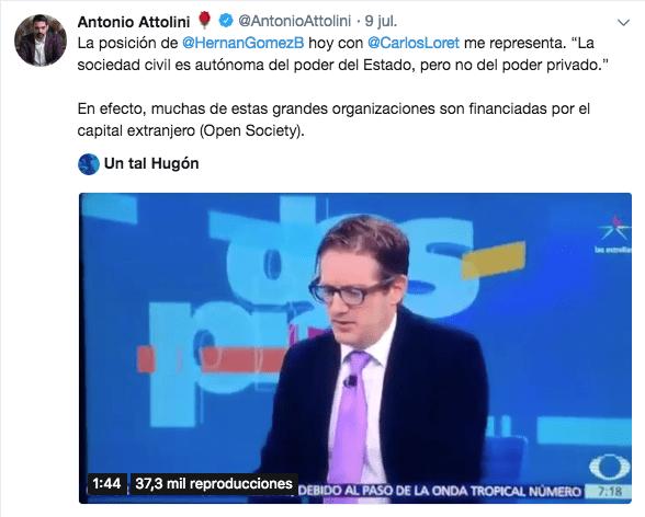 Attolini y su tuit veladamente antisemita