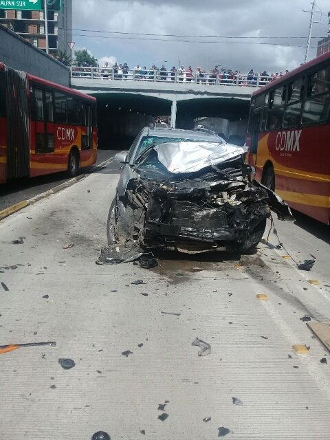 Choque Metrobús Línea 2 Xola Tlalpan Camioneta