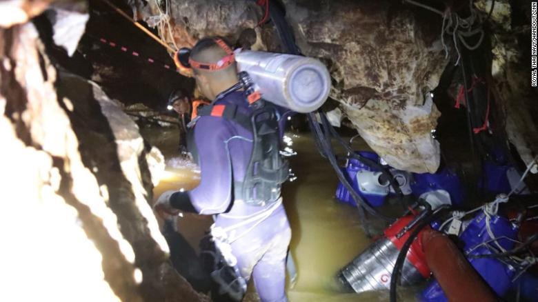 Rescate Tailandia Niños Cueva Musk Buzos