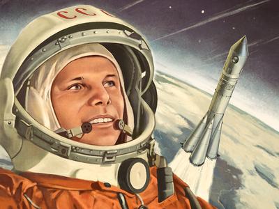 Gagarin, riéndose de tus babosadas sobre el alunizaje