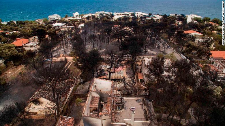 Mati, Grecia, Incendios