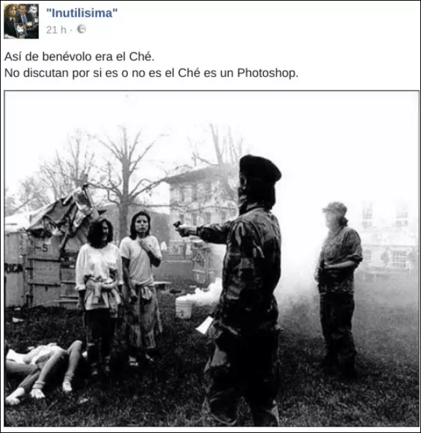 Primeros posts donde aparece la foto adjudicada al Che