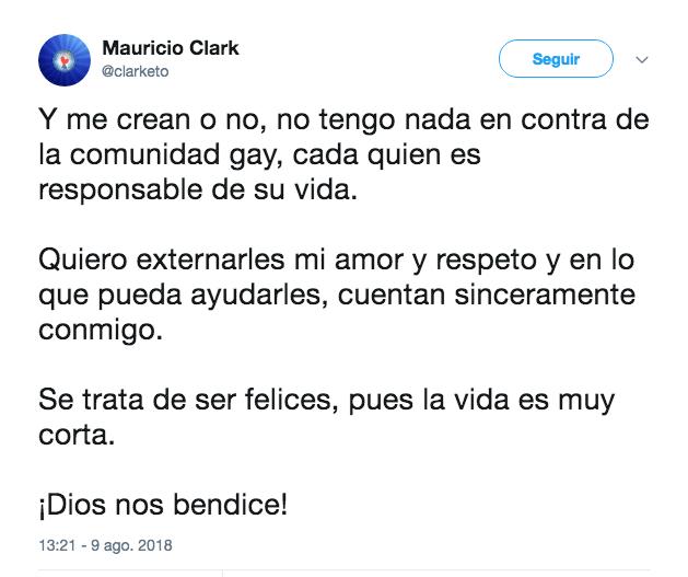 Mauricio Clark Homosexualidad Drogas Biografía Gay Dios