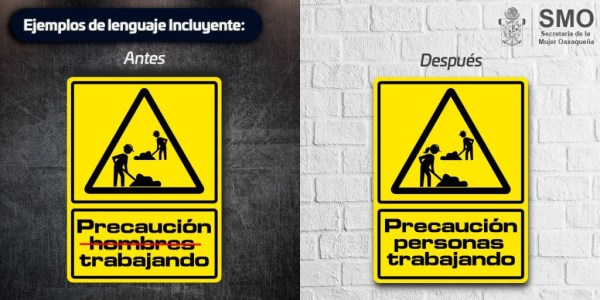 Gobierno de Oaxaca usando lenguaje no sexista