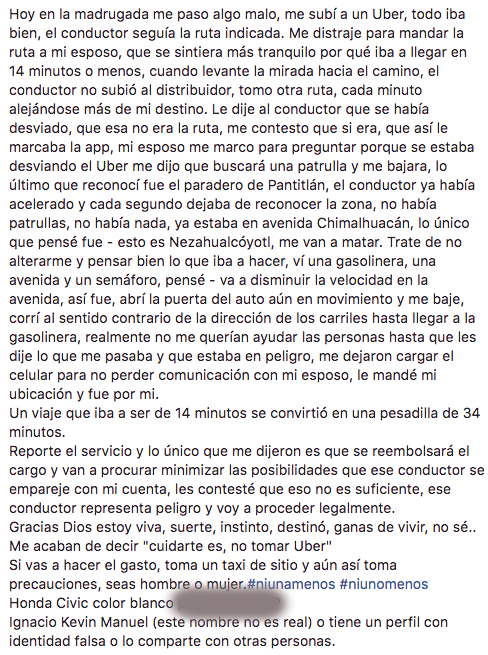 denuncia, uber, cdmx