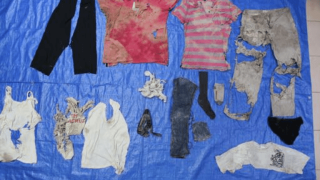 Publican catálogo de ropa encontrada en fosas de Veracruz