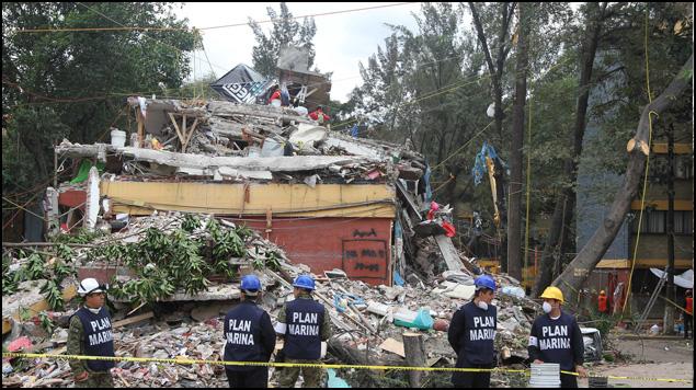 Multifamiliar Tlalpan colapsado en 19S