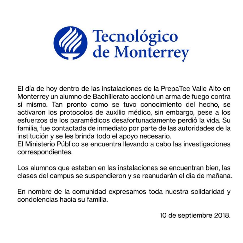 Tec Monterrey, Suicidio, Jóvenes