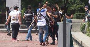 Violencia durante manifestación estudiantes CCH en CU
