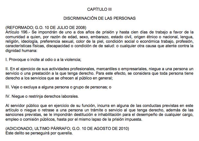 Artículo 196 del código penal de Veracruz