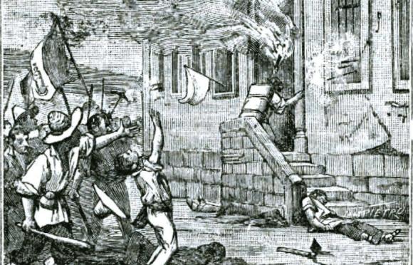 Grabado de la toma de la Alhóndiga de Granaditas