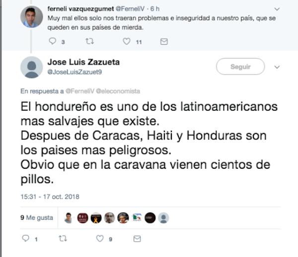 Mexicanos sobre migrantes
