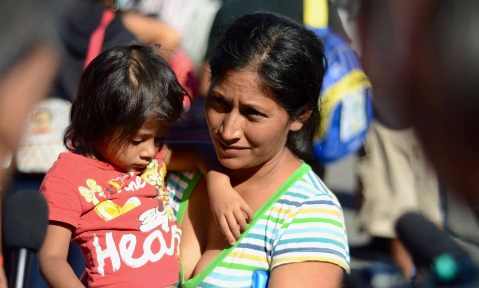 Fotografías de los refugiados centroamericanos en Tijuana