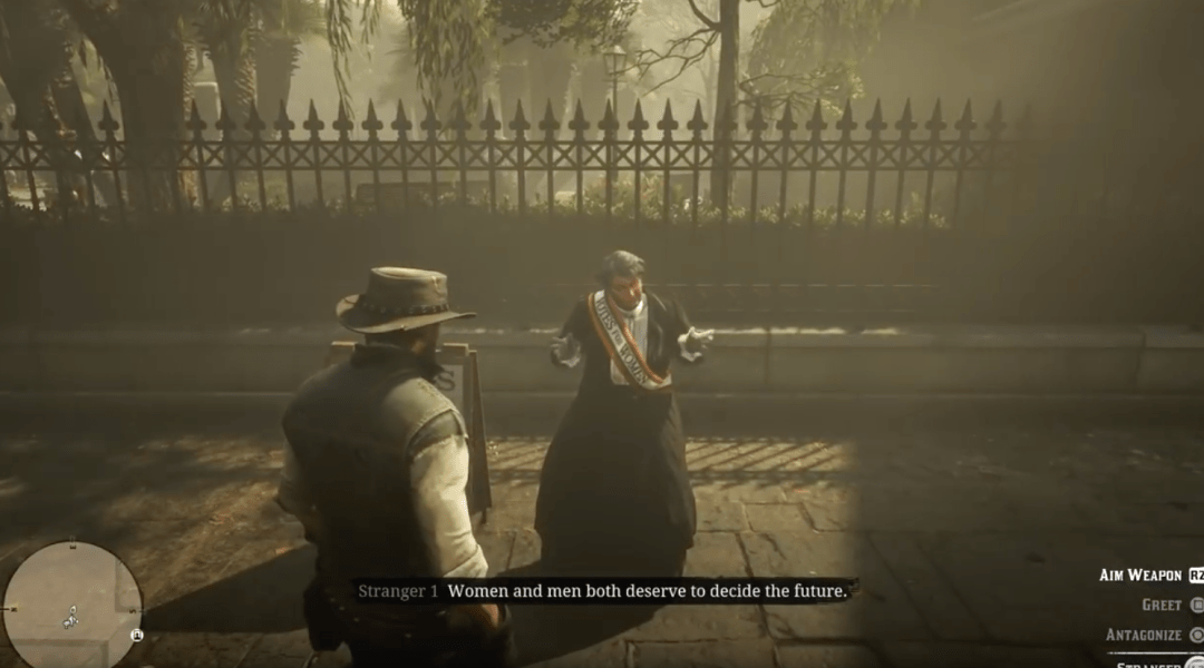 Red Dead Redemption 2, Feminista, Sufragista