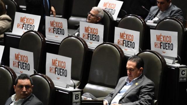 Diputados frenan eliminación del fuero