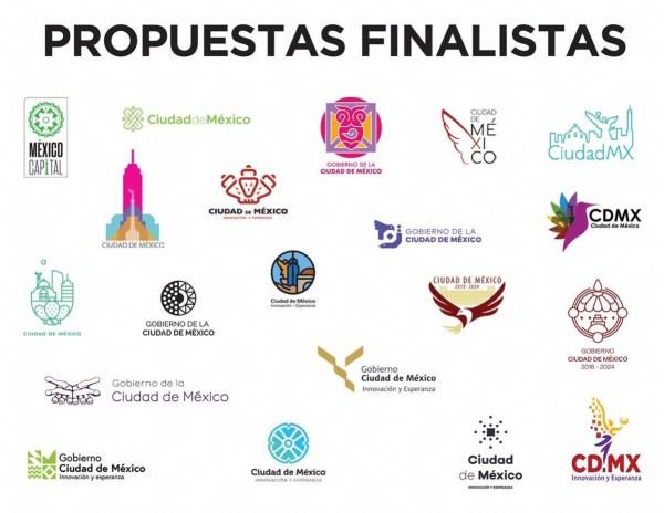 Los 20 logos finalistas para ser la nueva imagen de la CDMX