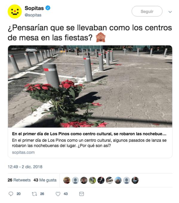 'Medios' publicando fake news sobre las nochebuenas de Los Pinos