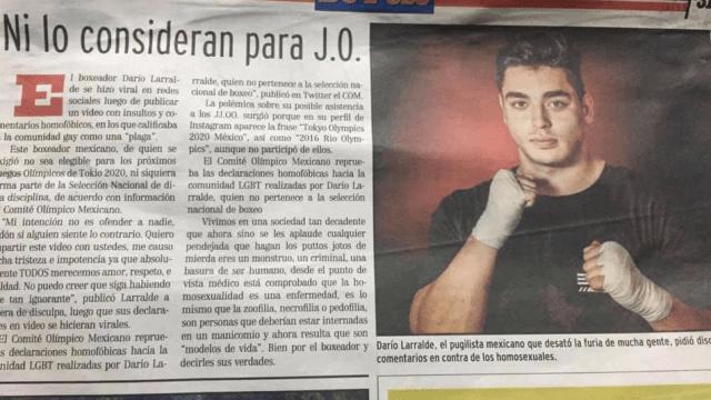De Peso Yucatán, Darío Larralde, Homofobia