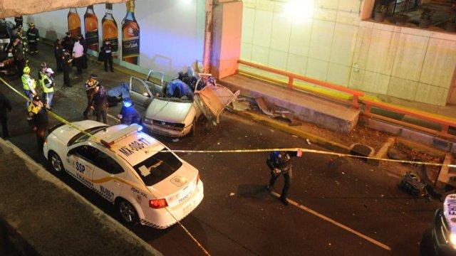 Accidente en Churubusco y Tlalpan deja dos muertos