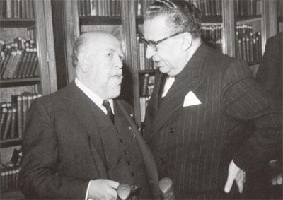 Torres Bodet y Alfonso Reyes en la SEP, 1944