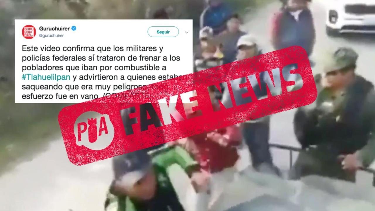 Falso video de enfrentamiento en Tlahuelilpan antes de explosión