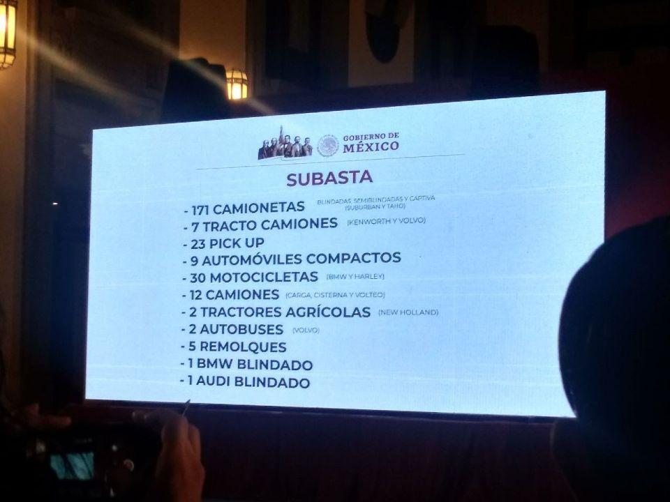 Parte de la lista presentada a medios para el tianguis en Santa Lucía