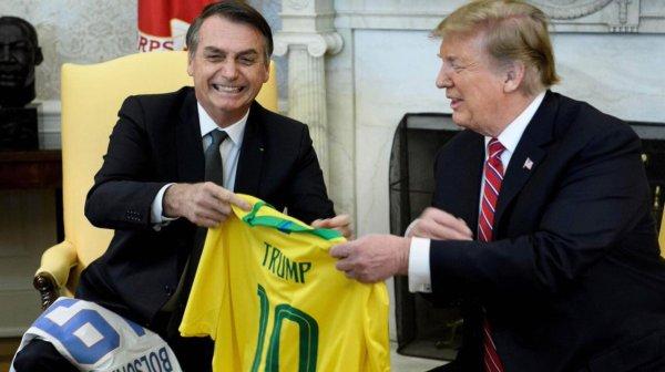 Trump, Bolsonaro, muro fronterizo, Venezuela