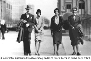 Rivas Mercado y Lorca en Nueva York, ambos exiliados