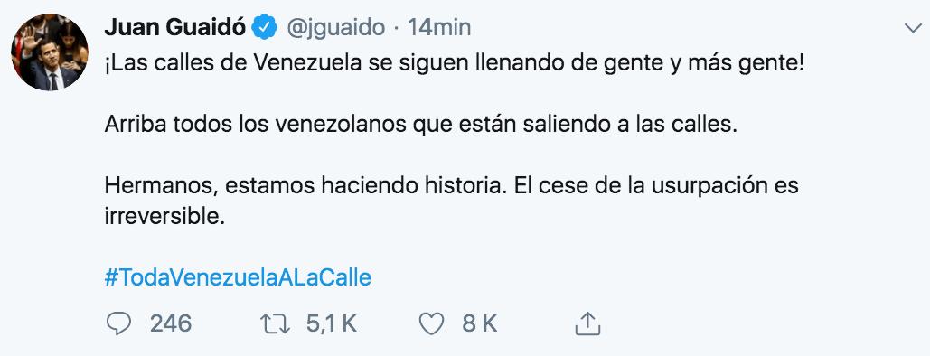 Guaidó convoca a la ciudadanía.