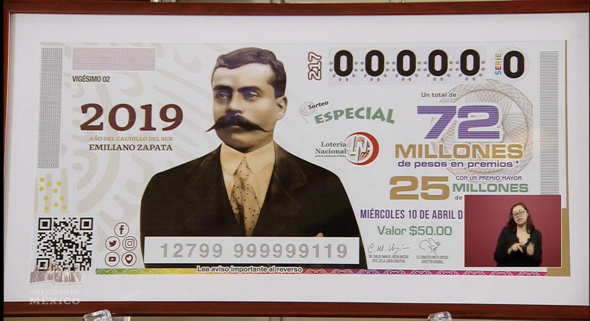 Zapata, lotería, metro