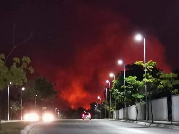 Incendio forestal en Campeche. Imagen: Twitter