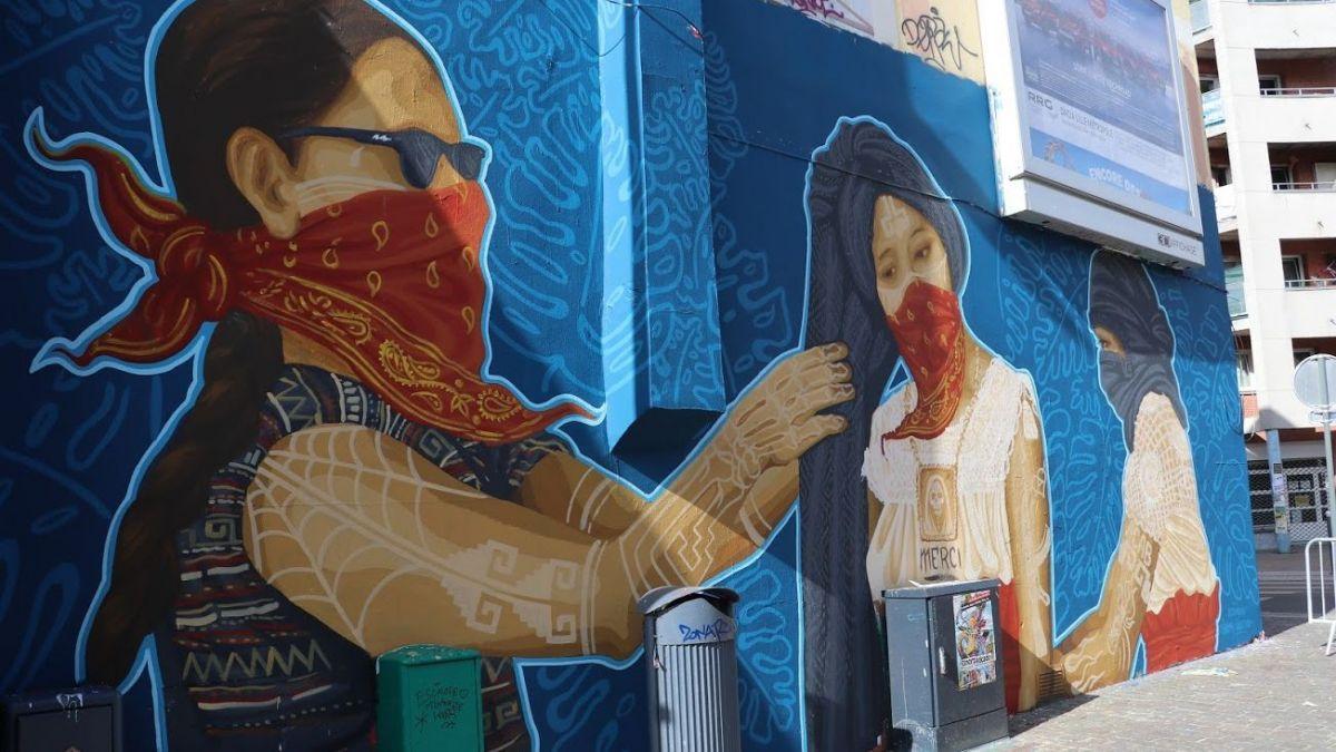 Policía francesa censura mural de artistas mexicanos