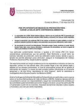 Contingencia Ambiental, IPN