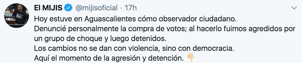 Detuvieron al Mijis en Aguascalientes