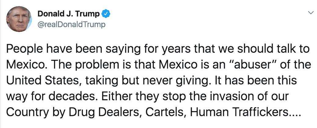 Donald Trump acerca de México