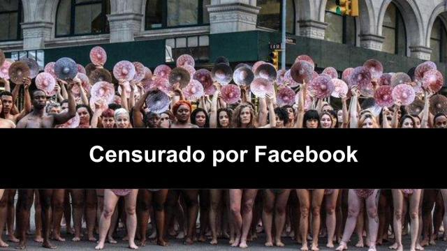 Protestan contra censura de pezones en oficinas de Facebook