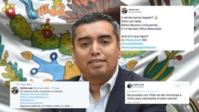 Diputado homófobo de NL ataca a Morena, su ex partido