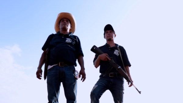 Miembros de la policía comunitaria rural de Ostula