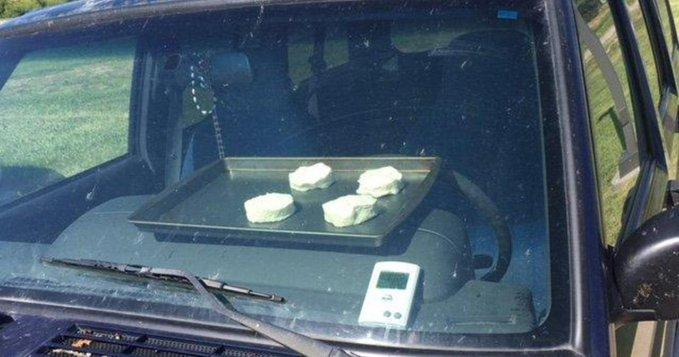 En Nebraska, Estados Unidos, puedes hornear galletas en el auto debido al cambio climático.