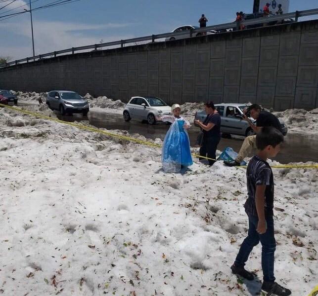 Así fue la granizada en Guadalajara este fin de semana.