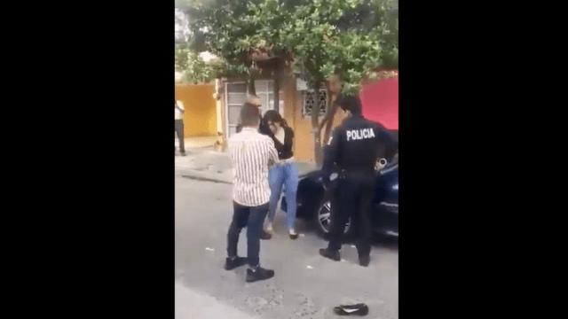 Policía en Guadalajara golpea a mujer que resiste arresto tras choque