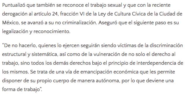 Morena plantea regular la prostitución en la Ciudad de México