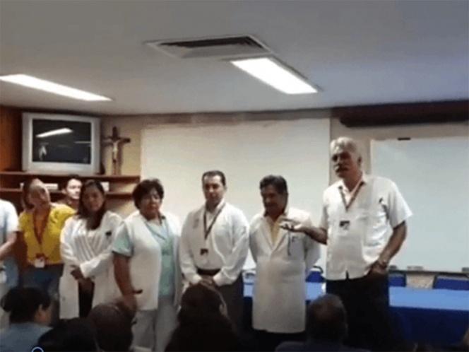 Mireles lo vuelve a hacer: llama 'nalguita' a mujer en hospital de Uruapan. Noticias en tiempo real