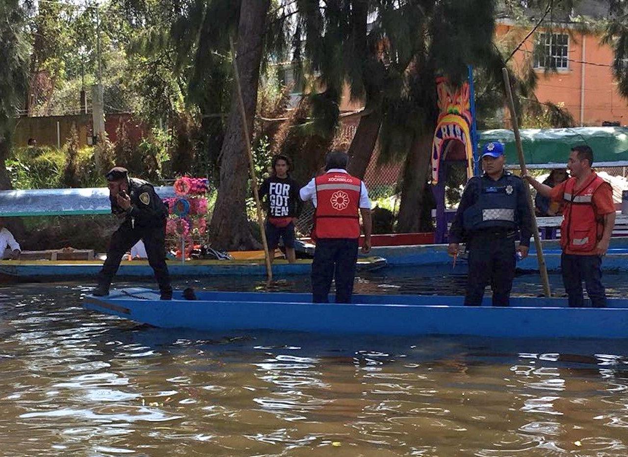 Joven muere ahogado en trajineras de Xochimilco