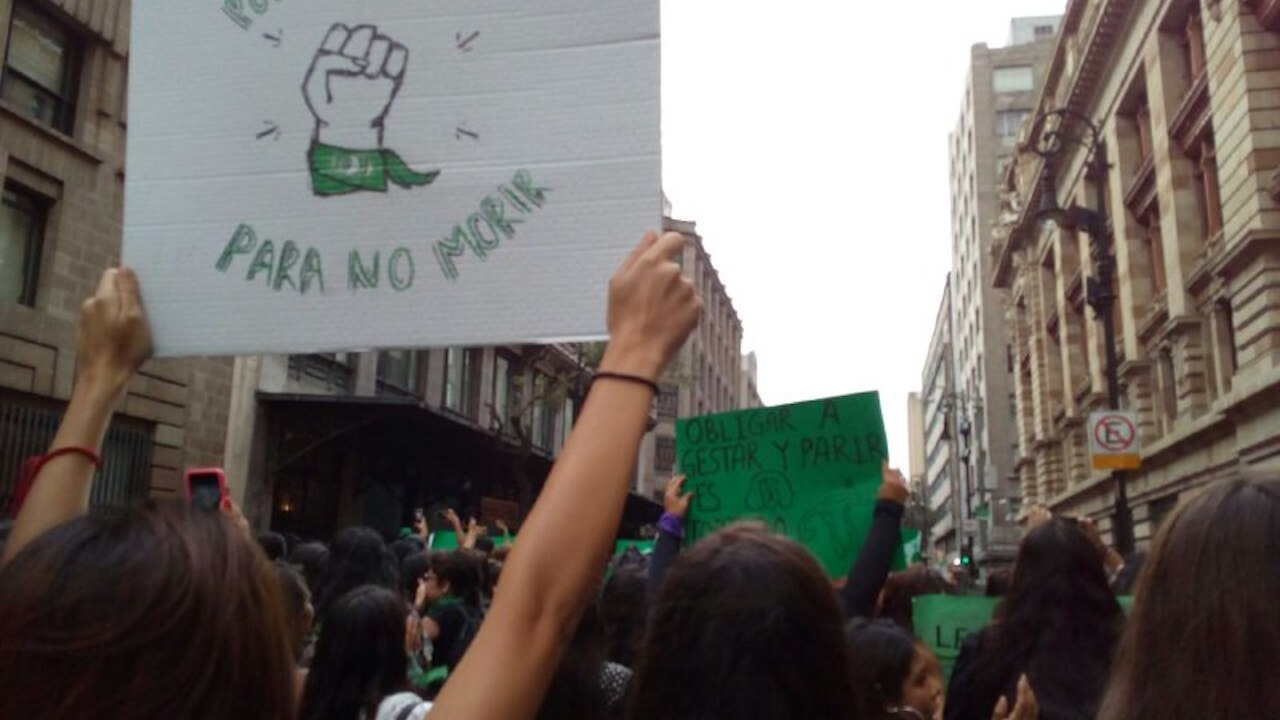 Así se vivió la marcha a favor del aborto en México