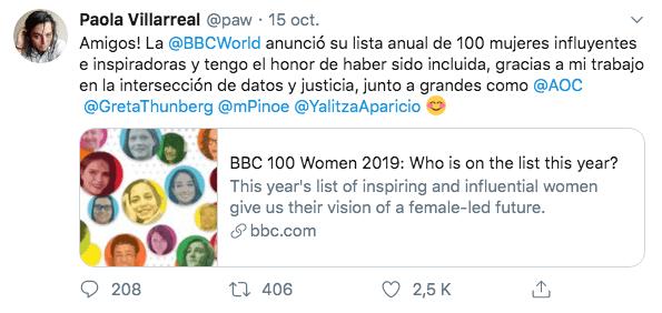 15/10/19 mujeres-influyentes-Yalitza-Greta/ Twitter